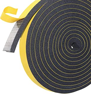 High Density Adhesive Insulation Foam Tape,Weather Stripping for Sliding Doors and Windows,Gasket Seal, Anti Vibration Col...