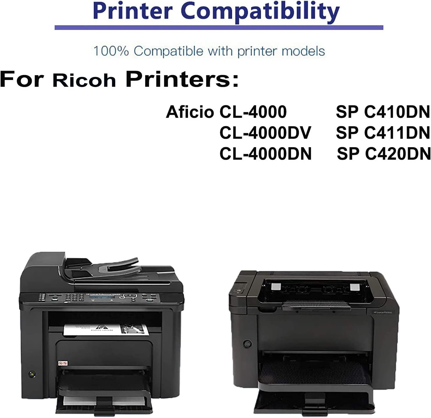 1-Pack (Cyan) Compatible High Yield 888311 Laser Printer Toner Cartridge Used for Ricoh SP C411DN SP C420DN Printer