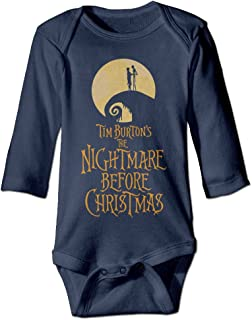 NINJOE NewBorn The Nightmare Before Christmas Long Sleeve Jumpsuit Outfits Navy