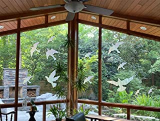 Anti-Collision Window Alert Bird Stickers Silhouettes Glass Door Protection and Save Birds, Holographic Reflection(12 Silh...