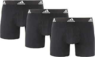 adidas Men's Stretch Cotton Boxer Briefs Underwear (3-Pack)