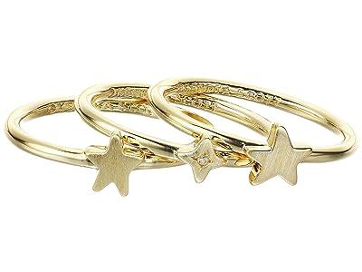 Kendra Scott Jae Star Ring Set (Gold Metal) Ring