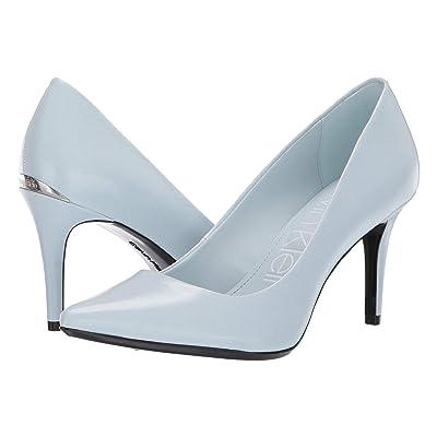 Calvin Klein Gayle Pump (Pastel Blue Varnished Crackle) High Heels