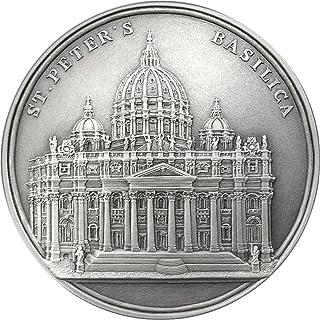Power Coin ST Peters Basilica San Pedro Mauquoy Moneda Plata 1500 Francos Benin 2017