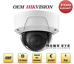 4MP PoE Security IP Camera - Compatible with Hikvision Performance Series DS-2CD2145FWD-I Mini Dome EXIR Night Vision 2.8mm Fixed Lens H.265+ 3 Year Warranty