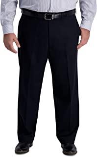 سروال رجالي رجالي من Haggar B&T بدون حديد ممتاز كاكي كلاسيكي ملائم مسطح من الأمام
