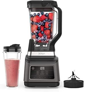 Ninja 2-in-1 Blender with Auto-iQ (BN750UK) 1200 W, 2.1 Litre Jug, 0.7 Litre Cup, Black/Silver