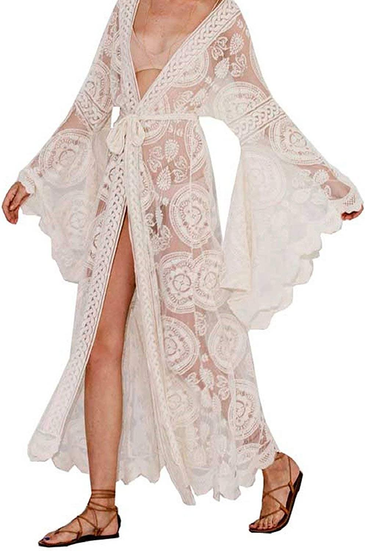Kamcd Fashion Maxi wrap Summer Tunic Dress Bohemian Holiday Kimono Beach Dresses