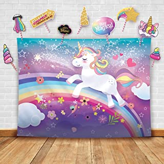 Glittery Garden Magical Unicorn Theme Photography Backdrop And Studio Props Diy Kit Great As Photo Booth Background Rainbo...