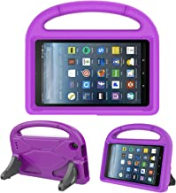 Kids Case for Amazon Fire 7 - TIRIN Light Weight Shock Proof Handle Kid –Proof Cover Kids Case for Amazon Fire 7 Tablet (5th/ 7th Gen, 2015/2017 Release)(Do not fit Fire 7 2019), Purple