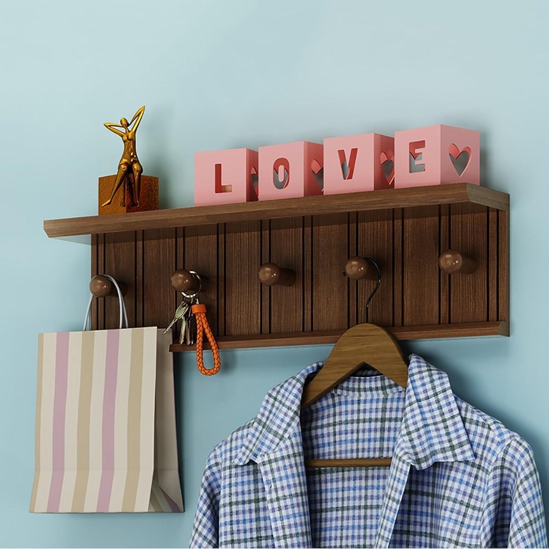 LFF- Wall Mounted Coat Rack Multi-Function Clothes Hanger Bedroom Living Room Solid Wood Creative Door Hook Hanger (color   White, Size   A)