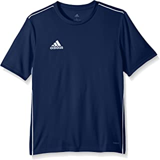 white adidas football shirt