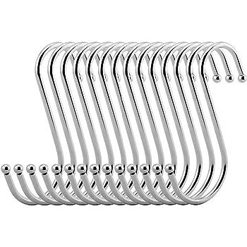 bagno per utensili da cucina 3 misure camera da letto padelle 12 pezzi in acciaio inox Ganci da appendere abbigliamento a forma di S