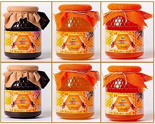 Pack 6 tarros de miel de 1 kg, brezo, romero y tomillo