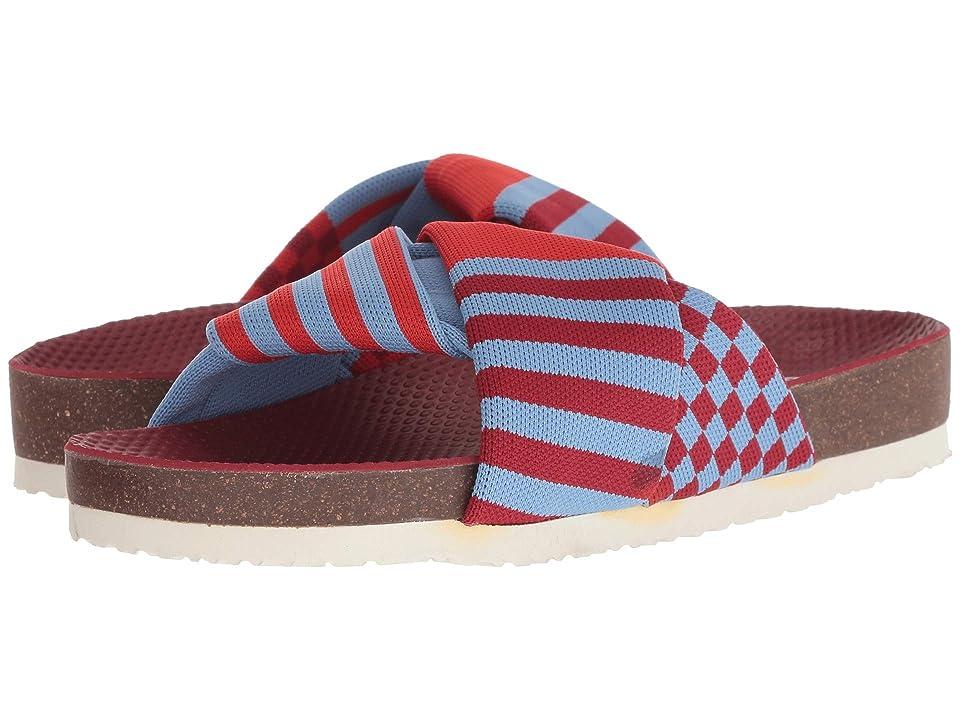 Tory Sport Tech Knit Slide (Red Velvet/Multicolor) Women