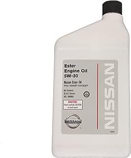 Genuine Nissan Fluid 999MP-5W30EP 5W-30 Ester Engine Oil - 1 Quart Bottle