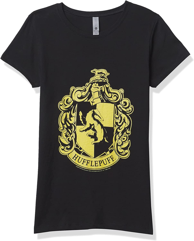 Fifth Sun Harry Potter Simple Hufflepuff Girl's Solid Crew Tee
