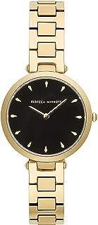 Rebecca Minkoff Women's Quartz Watch with Stainless Steel Strap, Gold, 13 (Model: 2200277)