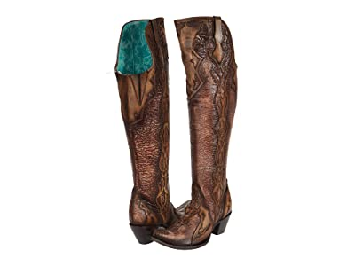 Corral Boots C3704 (Bone/Chocolate) Women