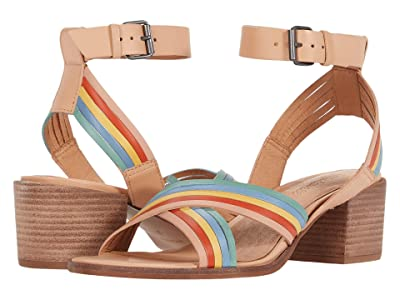 Madewell Olson Multi Strap Heeled Ankle Strap Sandal (Sundried Wheat Multi) Women