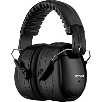 Mpow 035 Noise Reduction Safety Ear Muffs, Shooters Hearing Protection Ear Muffs, Adjustable Shooting Ear Muffs, NRR 28dB Ear Defenders for Shooting Hunting Season, with a Carrying Bag- Black