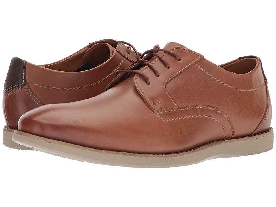 Clarks Raharto Plain (Dark Tan Leather) Men