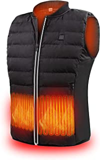 5V Heated Vest USB Charging Electric Lightweight Heating Clothing Warm Vest Washable Adjustable Heated Jackets for Men Women Motorcycle Camping (Battery Not Included)