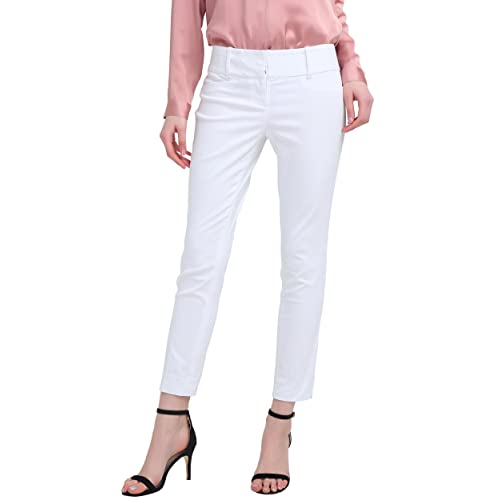 e43ff637cde Ladies Trousers Slim-Fit Bi-Stretch Plain Trousers Capri Trousers Cigarette  Trousers