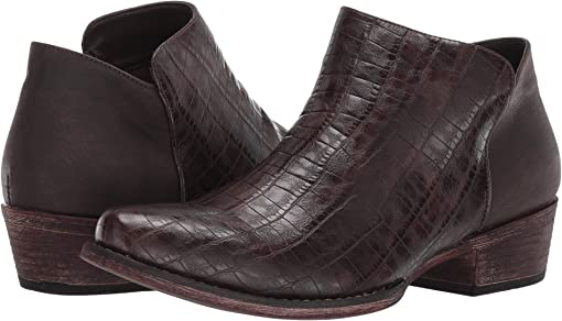 Brown Faux Caiman Leather