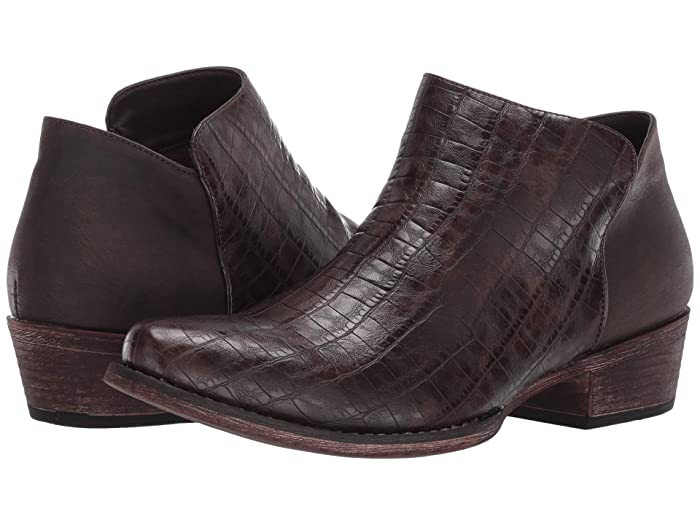 Roper  Sofia Caiman (Brown Faux Caiman Leather) Womens Pull-on Boots