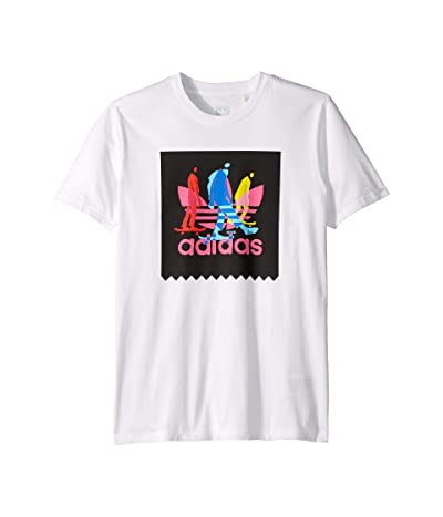 adidas Skateboarding Caruthers BB Tee (White) Men