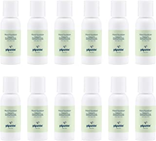 Pipette Hand Sanitizer No Rinse Plant-Derived 100% Squalane (2-fl oz, 12-pack)