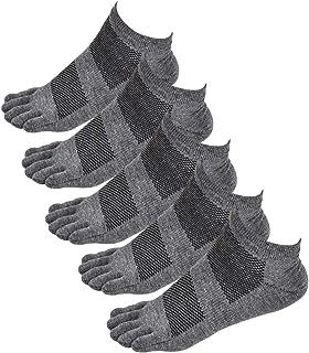 Panegy, Hombre Calcetines de Dedos Separados Cortos de Algodón Calcetines Deportivos Transpirable de Malla para Yoga Fintess Mancha
