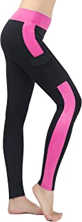 Neonysweets Womens Capris Exercise Gym Running Yoga Pants Phone Pockets