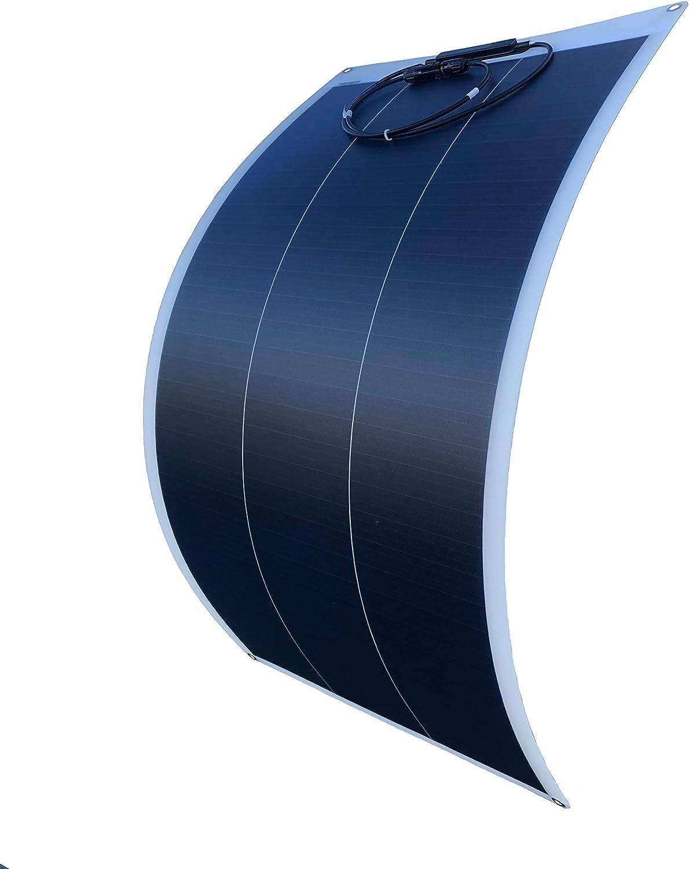 WindyNation 100W 100 Watt 12V Flexible Thin Lightweight Monocrystalline Solar Panel