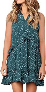 Women's Short Sleeve V Neck Pleated Babydoll Solid Color Tunic Party Mini Dress