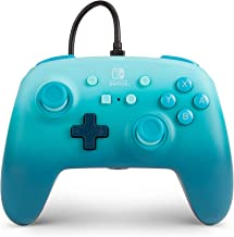 PowerA Enhanced Wired Controller for Nintendo Switch - Aquatic Fantasy, Blue, Gamepad, Wired Video Game Controller, Gaming...