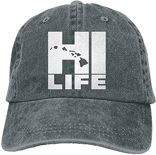 Hi Life Hawaiian Islands Dad Hat Adjustable Denim Hat Classic Baseball Cap