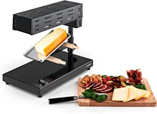 comprar comparacion Klarstein Appenzell 2G Schweizer Raclette Grill - Raclette para Queso, Parrilla de Mesa, Queso Fundido Tradicional, 600 W,...