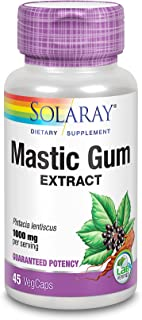 Solaray, Mastic Gum Extract, 500 mg, 45 Vegetarian Capsules