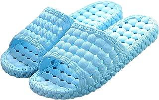 Matari Womens Mens Indoor Bathroom Shower Solid Slide-on Slippers Poolside Shoes