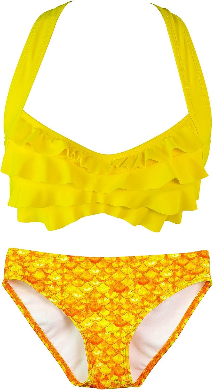 Fin Fun Mermaid - Damen Damen Damen Bikini-Set im Wellen-Design - Mermaidens Bademode B016IZHICS  Stilvoll und charmant 19f2c2