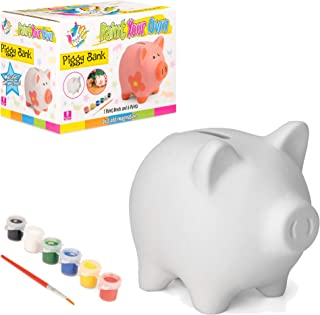 Made It! Piggy Bank Painting Set for Kids, Painting Craft Kit Money Bank