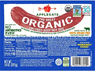 Applegate Great Organic Beef Hot Dog Uncured, 14oz