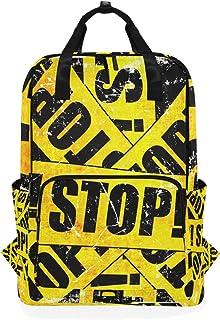 DEZIRO Grunge Stop Pattern Casual Mochila de Hombro