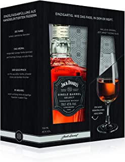 Jack Daniel's Single Barrel Select Tennessee Whiskey mit Nosing-Glas, Geschenkset Single Malt Whisky 1 x 0.7l