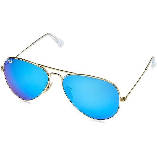 cdbc378711 Ray-Ban 3025 Aviator Large Metal Mirrored Non-Polarized Sunglasses