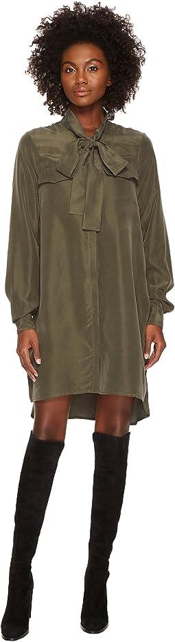 LAMARQUE - Geila Longline Tunic Dress w/ Neck Tie