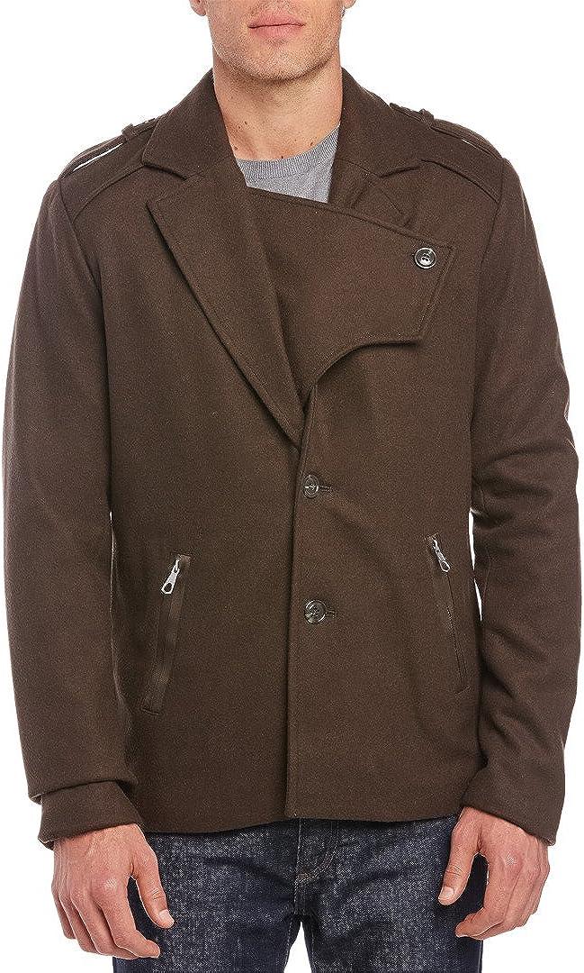 Joe's Jeans Commodore Wool Blend Coat Peacoat Jacket Olive