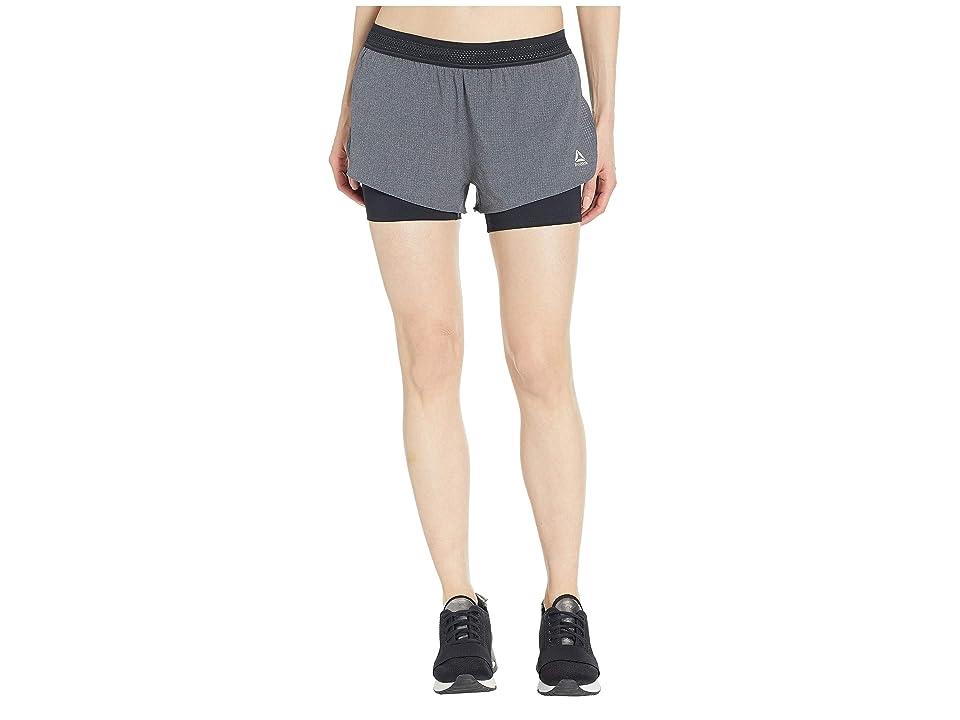 Reebok One Series Epic 2-in-1 Run Shorts (Black) Women's Shorts